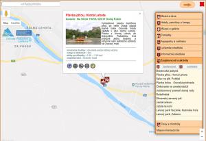 tematická mapa, interaktívna mapa - informačné okno
